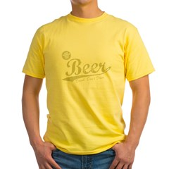 BEER_CHEAPER_THAN_GAS-dark Yellow T-Shirt