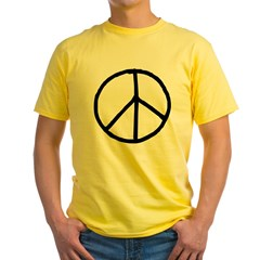Peace Symbol Yellow T-Shirt