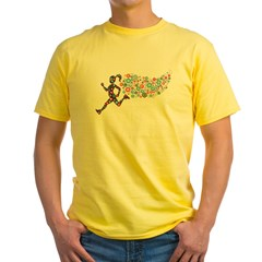 Run Like A Gir Yellow T-Shirt