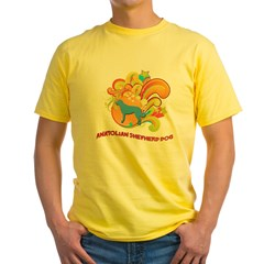Groovy Anatolian Shepherd Dog Yellow T-Shirt