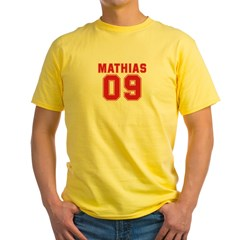 MATHIAS 09 Yellow T-Shirt