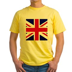 British Flag Union Jack Yellow T-Shirt