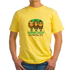 See Speak Hear No Ovarian Cancer 1 Yellow T-Shirt