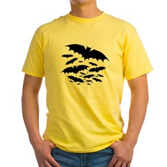 Batty Ash Grey Yellow T-Shirt
