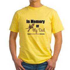 Alzheimer's Memory Dad Yellow T-Shirt