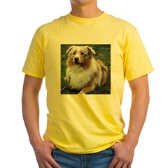 Red Merle Aussie Yellow T-Shirt