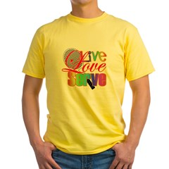 Live, Love, Serve Yellow T-Shirt