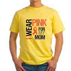 I Wear Pink (Mom) Yellow T-Shirt