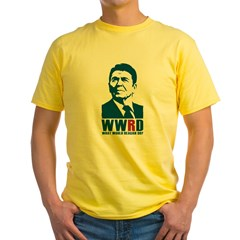 WWRD - What Would Reagan Do? Long Sleeve Tee Yellow T-Shirt