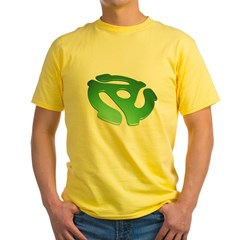green-3d-45-rpm-adapter-dk Yellow T-Shirt