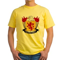 Feilding Family Crest Yellow T-Shirt