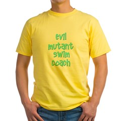 Evil Mutant Swim Coach Yellow T-Shirt