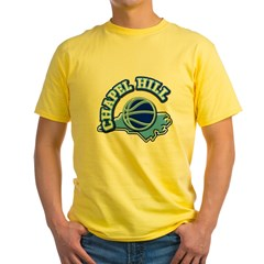 Chapel Hill Basketbal Yellow T-Shirt