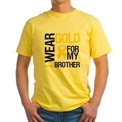 I Wear Gold For My Brother Yellow T-Shirt