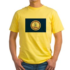 Beloved Virginia Flag Modern Style Yellow T-Shirt