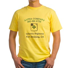 ACO 3RD 47TH Yellow T-Shirt