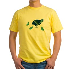 Quail Family Yellow T-Shirt