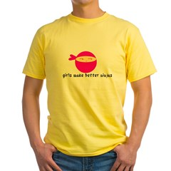 Girls Make Better Ninjas Yellow T-Shirt
