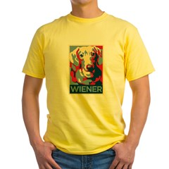 Vote Wiener! Yellow T-Shirt