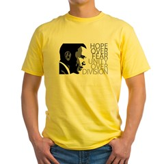 Obama - Hope Over Division - Grey Yellow T-Shirt