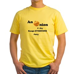 Onion A Day Yellow T-Shirt
