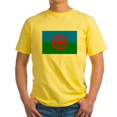 Romani Flag (Gypsies Flag) Yellow T-Shirt