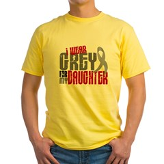 I Wear Grey For My Daughter 6 Yellow T-Shirt