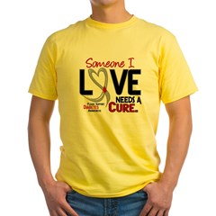 Needs A Cure 2 DIABETES Yellow T-Shirt