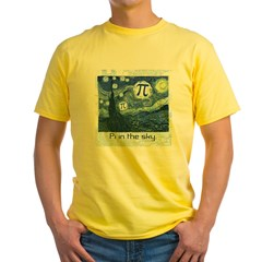 Pi in the Sky Yellow T-Shirt