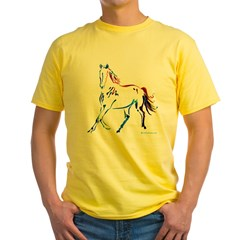 Horse of Many Colors Yellow T-Shirt