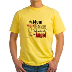 Angel 1 MOM Lung Cancer Yellow T-Shirt
