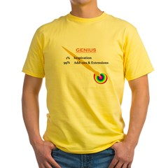 genius.jpg Yellow T-Shirt