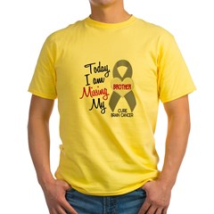 Missing 1 Brother BRAIN CANCER Yellow T-Shirt