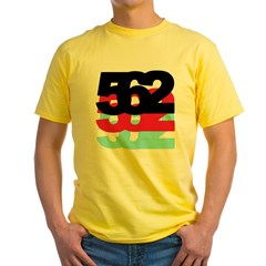 562 Area Code Yellow T-Shirt