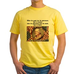 Jefferson-Tyranny vs. Liberty Yellow T-Shirt