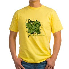 grunge_hops_dark Yellow T-Shirt