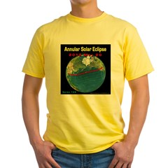 2012 Annular Solar Eclipse Yellow T-Shirt