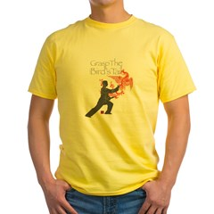 Yang-GraspTheBirdsTail-DK copy Yellow T-Shirt