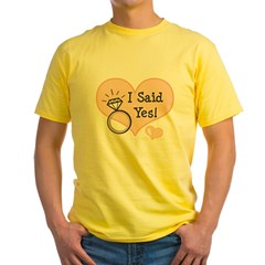 I Said Yes Bride To Be Yellow T-Shirt