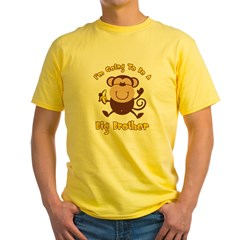 Monkey Future Big Brother Yellow T-Shirt