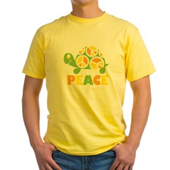 PeaceTurtle3 Yellow T-Shirt