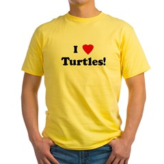 I Love Turtles! Yellow T-Shirt