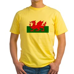 Flag of Wales (Welsh Flag) Yellow T-Shirt