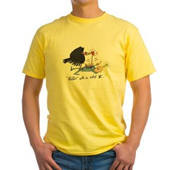 Partner with an active VC Yellow T-Shirt