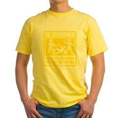 Protecting and Serving Yellow T-Shirt