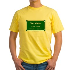 San Mateo Yellow T-Shirt