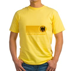 Deutschland Germany Yellow T-Shirt