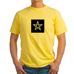 Wiccan Pentagram Yellow T-Shirt