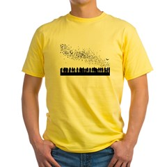 bats-nostroke Yellow T-Shirt