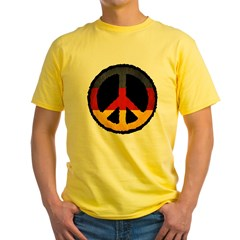 German Peace Yellow T-Shirt